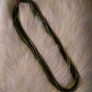 "Vintage 16"" Shades of Green Necklace"